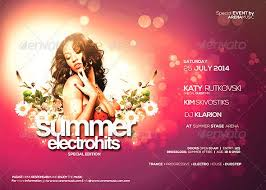Flyer Template Summer Electro Hits Vol 01