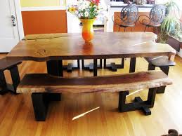Rustic Dining Room Sets Have Rectangle Table With Bench Above Wood Floor Also Flower Vase On Top For Small Spaces