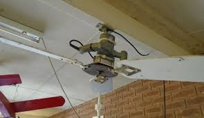 Picture Of Solar Powered Ceiling Fan Circular Saw Conversion