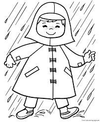 Preschool Umbrella Coloring Page