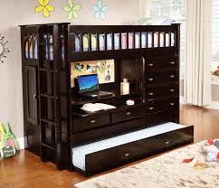 Low Loft Bed With Desk by Discovery World Furniture Twin All In One Espresso Loft Bed U2013 Kfs