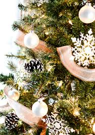 Christmas Tree With Painted Pine Cones