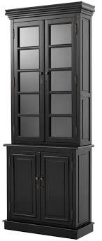 casa padrino luxus wohnzimmerschrank schwarz 90 x 38 x h 230 cm limited edition