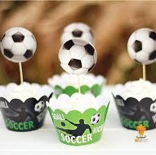 Football Party Supplies Soccer Sport Theme Cupcake Kids