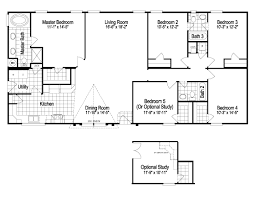 The Most Four Bedroom Mobile Homes L 4 Bedroom Floor Plans