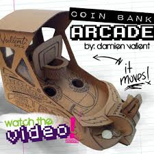 DIY Arcadem Cardboredem HOOPZ Mini Basketball Arcade Coinbank Cardboard Crafts