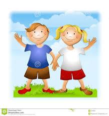 kids waving goodbye clipart 7