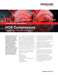 Siemens Dresser Rand News by Hos Compressors Brochure Dresser Rand Pdf Catalogue