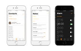 iOS 11 UI concept Bold fonts through OS