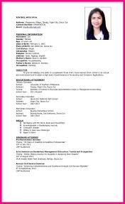 Epic Resume Sample Objectives For Ojt With 10 Hrm Curriculum Vitae Template