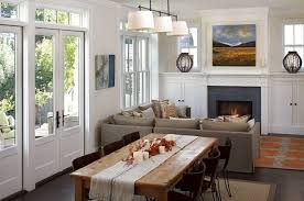 Rustic Living Rooms Small Spaces Space Room With Dining Area Design