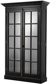 casa padrino luxus wohnzimmerschrank schwarz 141 x 48 x h 233 cm limited edition