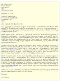 Graduate School Admissions Letter of Intent