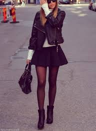 Skater Skirt That Can Be Worn For Winter With Black Nylons