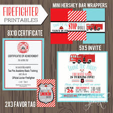 Fire Truck Birthday Party Set, Printable Fireman Invitation ... Birthday Printable Fireman Party Invitation Merriment Template Fire Truck Invitations Wording Plus New Cute Engine Gilm Press Fantastic Photo And Personalise Boys Army Birthday Invitionmiltary Party Invitation Inspirational Firefighter Hire A Fire Ny Pinterest Monster Small Friendly Invites Marvelous