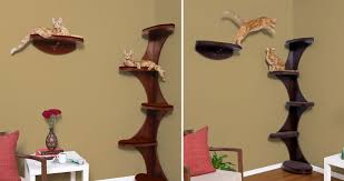 modern cat tower furniture accessories wooden cat tree design with minimalist