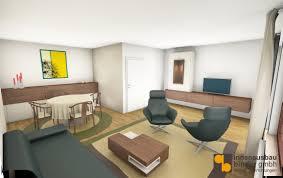 wohnzimmer und esszimmer in einem raum innenausbau binder