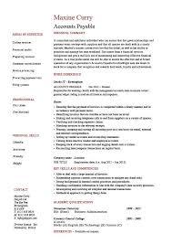 Accounts Payable Resume Templates Sample Job Description Salary Example Ideas