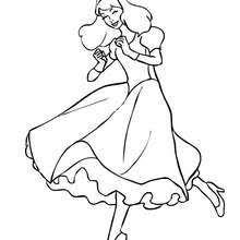 Princess Riding Dancing Coloring Page