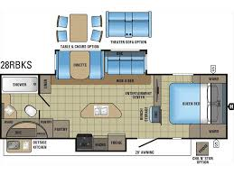 Travel Trailer Floor Plans Rear Kitchen by 2017 Jayco White Hawk 28rbks Rear Bath Island Kitchen Double Slide