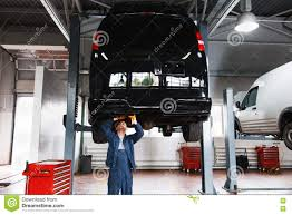 100 Car Elevator Garage Minibus Service Maintenance Interior Stock Image Image Of