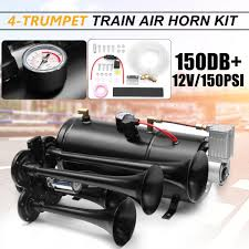 Aliexpress.com : Buy Truck Train Quad 4 Trumpet Air Horn Kit Black ... Voluker 4 Trumpet Train Air Horn Kit150db Loud Compressor Amazoncom Iglobalbuy Super 12v Dual 150db Truck Mega Single Kit W Dc 12v Emergency Fire Ftkit Horns Of Texas Mirkoo Twin Tone Chrome Plated Air Horn Kit Diesel Pinterest Trucks Chevy Car Boat 117 Wolo Mfg Corp Air Horns Horn Accsories Comprresors Pcwizecom Truhacks Triple Boss Suspension Shop Kits Model Hk2 Kleinn Mpc M1 Review Best Unbiased Reviews