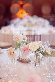 Beautiful Blush Flowers Dahlia Wedding CenterpiecesSimple