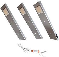 acce led unterbauleuchte küchen möbel leuchte warmweiß inkl konverter ein strahler mit schalter energieeffizienzklasse a 3er set