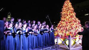Los Angeles County Tree Lighting At DTLAs Grand Park