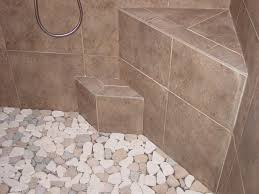 amazing pebble shower floors for tiled showers how to install