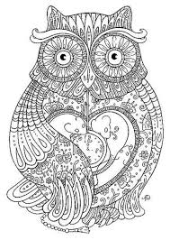 Owl Coloring Pages For Adults Printable Kids