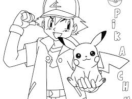 Ash And Pikachu Coloring Pages Download Pokemon