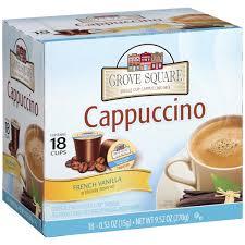Grove SquareR French Vanilla Cappuccino Mix 952 Oz 18 Ct K Cup Box