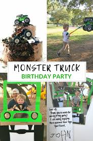 100 Monster Truck Decorations Birthday Party Celebrating 4 Years Life