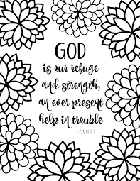 Coloring Pages For Adults Free Printable Bible Verse With Bursting Blossoms