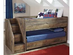 100 11 Wood Loft Trinell Bed With Storage Stairs Caster Bed By Signature Design By Ashley At Household Furniture