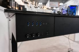 Lian Li Computer Desk by Lian Li Showcase The New Dk 05 Pc Chassis Desk Tech Root