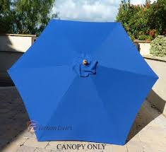 9 Ft Patio Market Umbrella by Patio Umbrella Replacement Cover Canopy 6 Ribs Royal Blue