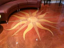 nyc decorative concrete contractors sun burst design repin