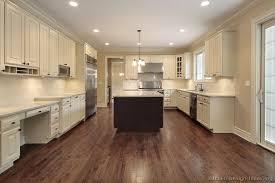 Beautiful Dark Wood Floors In Kitchen White Cabinets Design