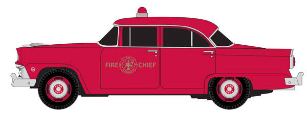 Classic Metal Works HO 1955 Ford Mainline Sedan - Fire Chief's Car