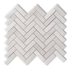 shop allen roth genuine white marble mosaic