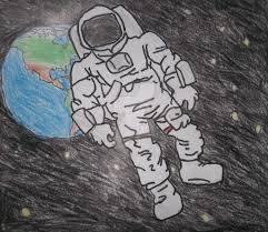 My Drawing of an Astronaut in Space by anthonyDstark on DeviantArt