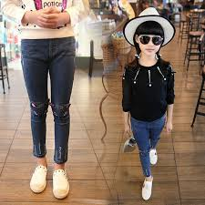 Autumn Spring Winter Children Clothing Girls Legging Cartoon Cat Jeans Pants Fashion Capris Baby Pencil Trousers In From Mother Kids On