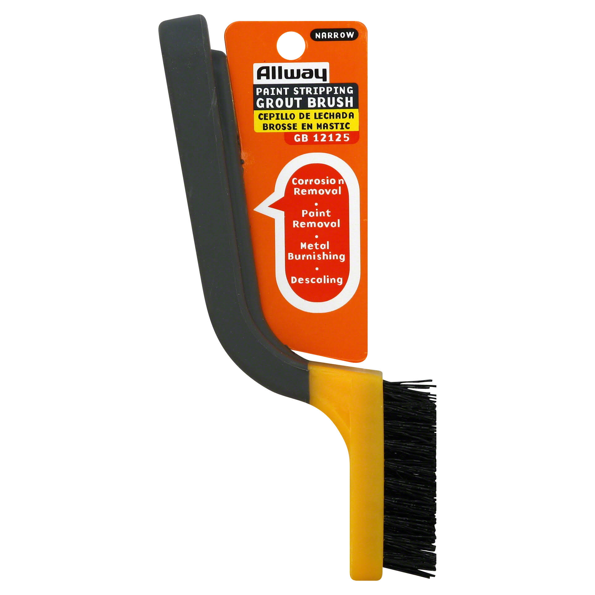 Allway Tools Paint Stripping and Grout Brush - Nylon Bristle