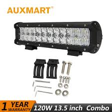 auxmart led light bar 5d 13 5 120w flood spot beam fog led work