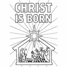Nativity Coloring Pages Christ Is Born