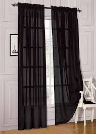 Black Sheer Curtains Walmart by Curtain Black Sheer Curtains Literarywondrous Images