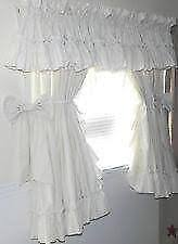 White Eyelet Kitchen Curtains by Country Curtains Kitchen Shower And More Ebay