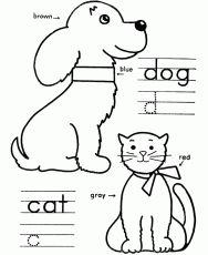 Cute Lady Cat Coloring Pages Printable